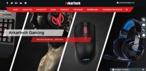 arkartechのホームページのスクリーンショット画像