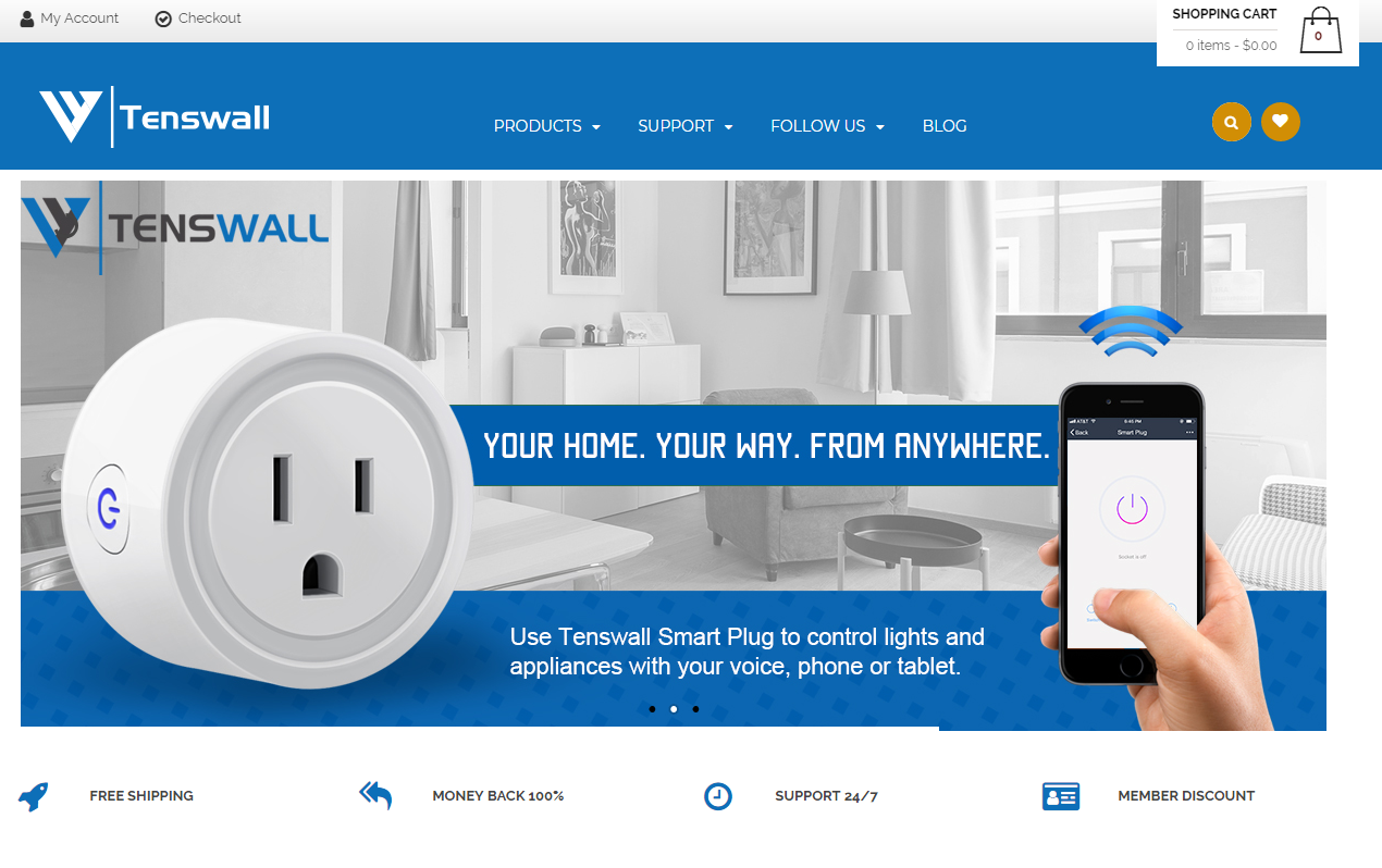 Tenswallの会社ホームページ画像