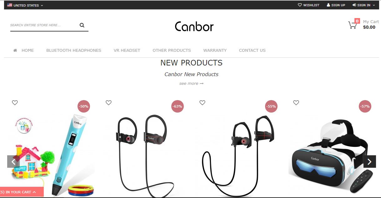 canbor のホームページ写真