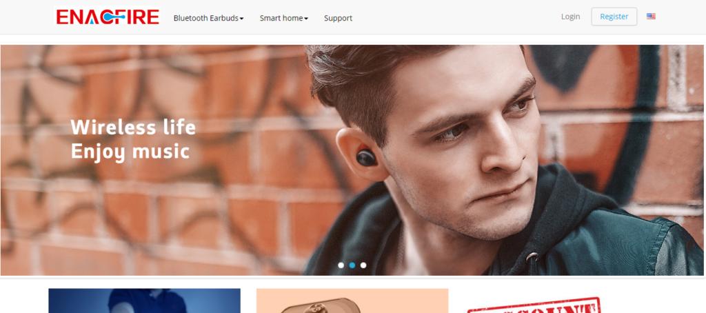 Enacfireのホームページ画像