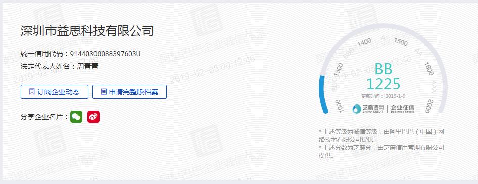 EACHINEの信用評価の画像