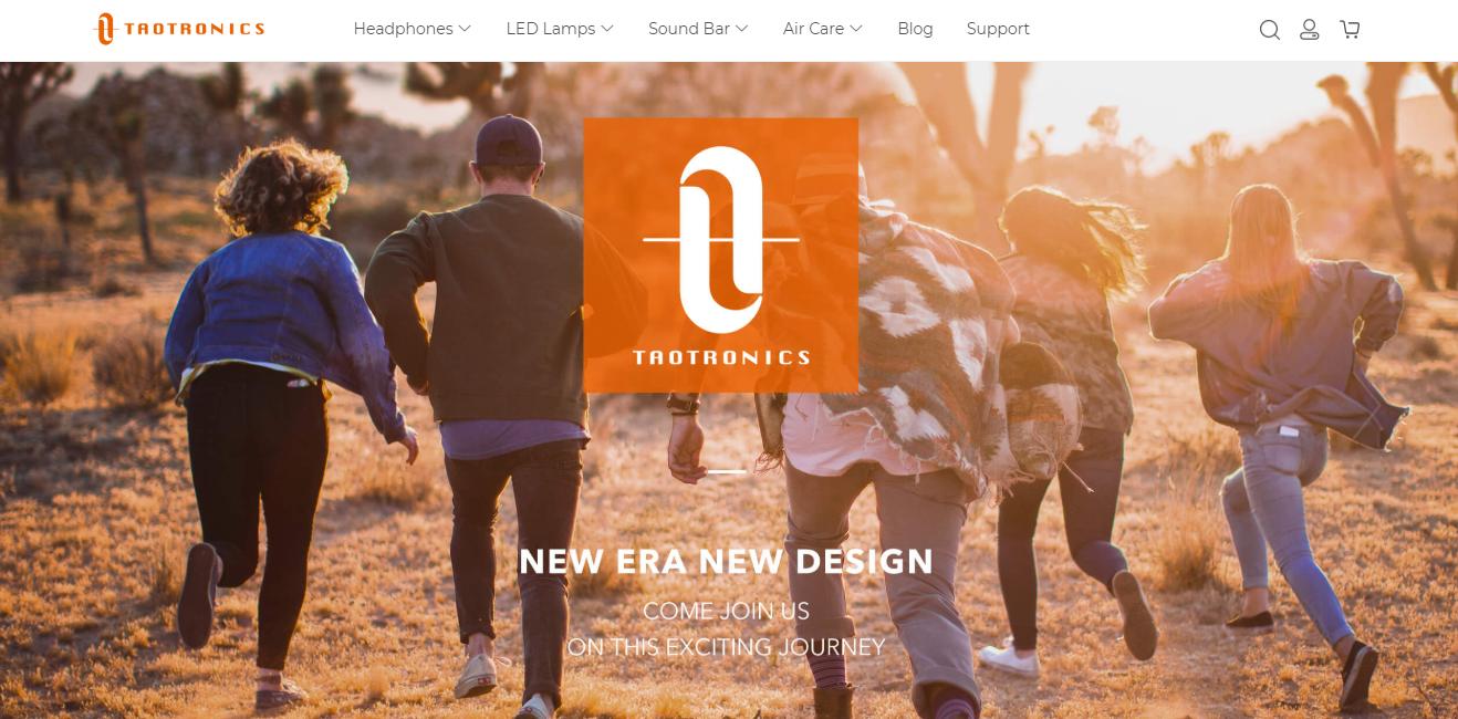 TaoTronicsのブランドホームページ