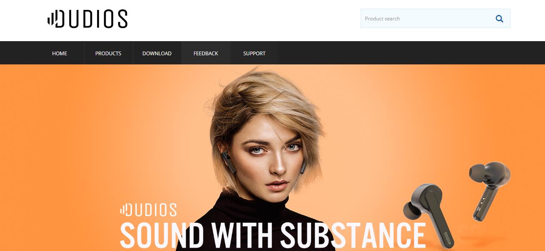 Dudiosのブランドホームページ
