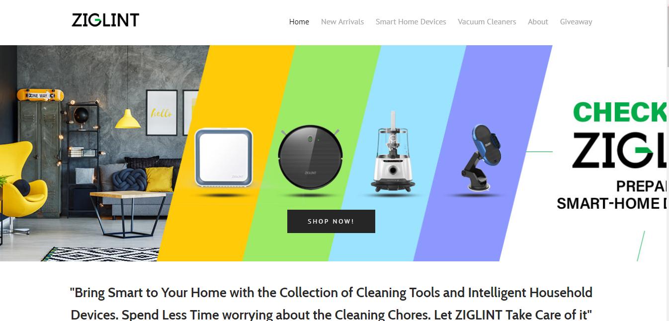 Ziglintのブランドホームページ