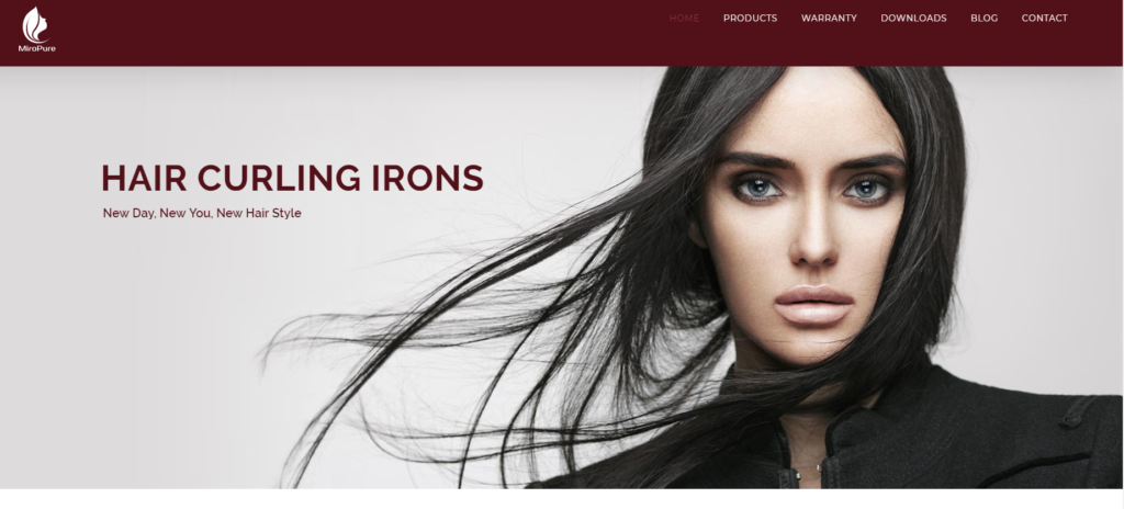MiroPureのブランドホームページ