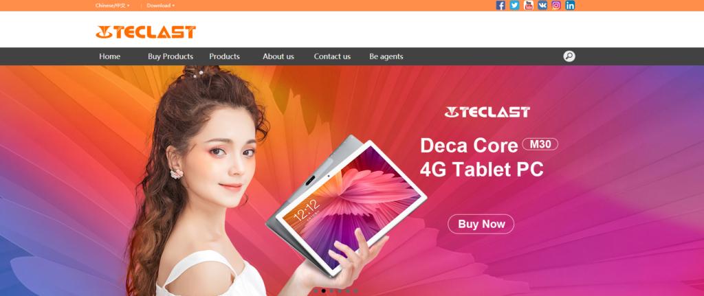 Teclastの会社ホームページ