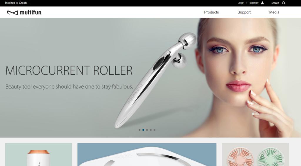 multifunのブランドホームページ