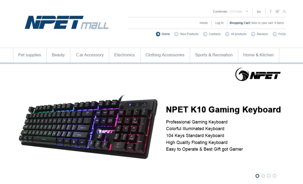 NPETの会社ホームページ