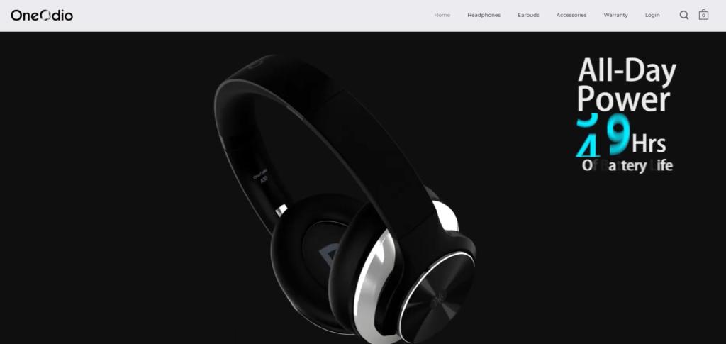 OneOdioの会社ホームページ