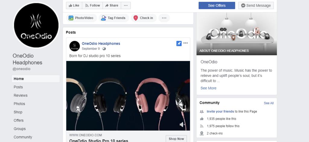 OneOdioFacebookページ