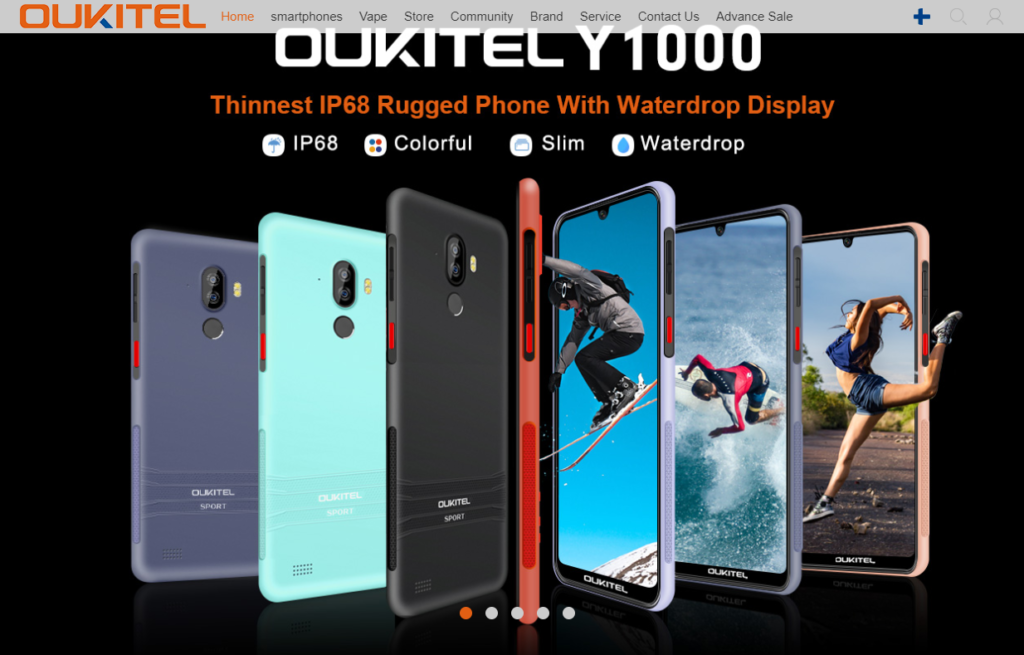 OUKITELの会社ホームページ