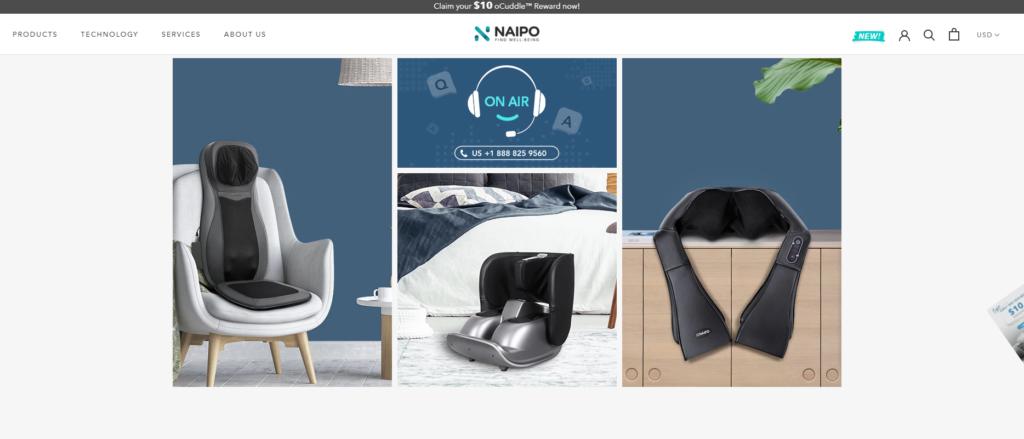 Naipoのブランドホームページ