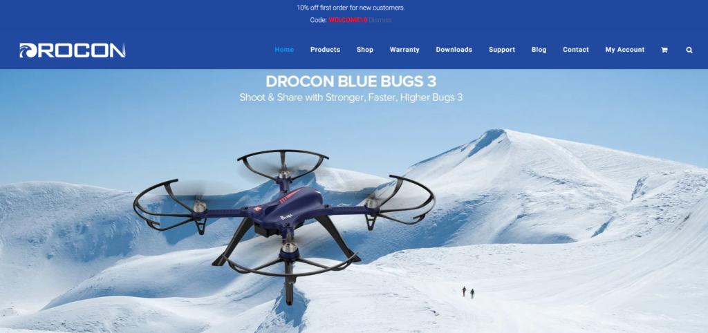 DROCONの会社ホームページ