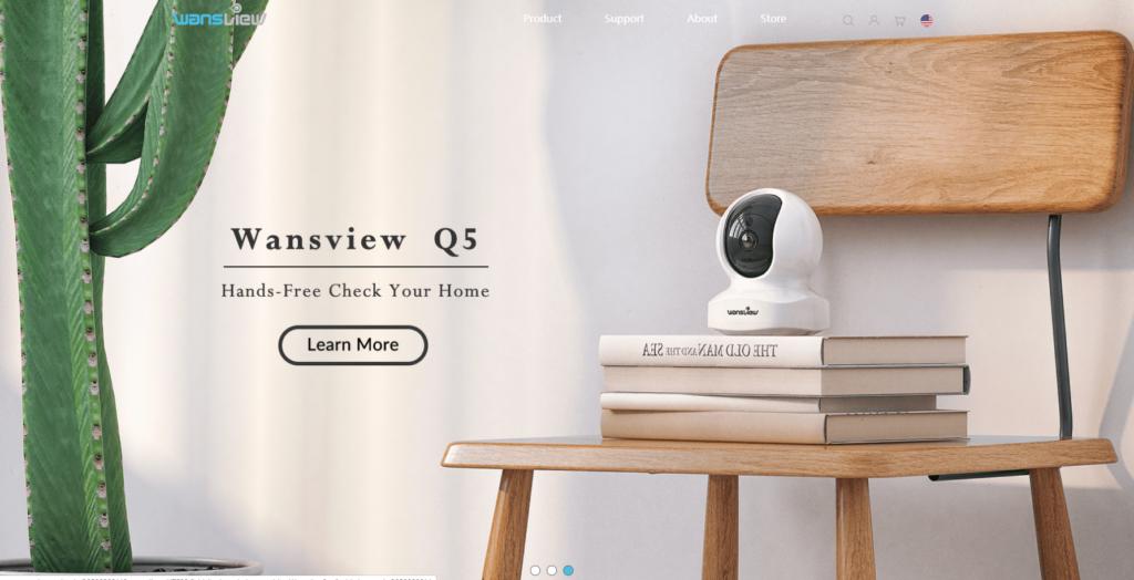 Wansviewの会社ホームページ